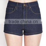 hot selling women denim shorts made in china wash skinny wholesale cheap denim shorts