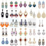 Elegant Fashion Rhinestone Dangle Ear Stud Earrings Crystal ChainJE4017