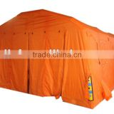 inflatable decontamination tent for fire fighting
