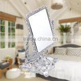 plastic cosmetic mirror high quality double free standing desktop top mirror