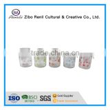 300ml Round Glass Spice Jar with Flower Design and Hanging Clamp Lid