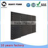 black egg shell acoustic foam sheet polyurethane sponge