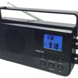 Portable AM FM PLL Radio with clock