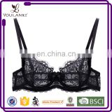 Low Price Best Selling Eyelash Lace Front Closure Transparent Lace Bralette