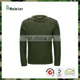 Military Olive Green army wool sweater pullover