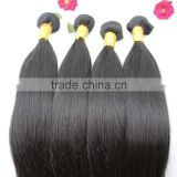 7A Unprocessed Virgin Brazilian Human Straight Hair Extensions Weave