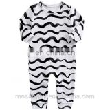 Factory Production Hot sale Baby Romper Long Sleeve Soft Cotton Zebra Design