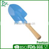 Stainless steel mini garden tools shovel with wooden handle for kids
