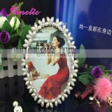 A9026 7 Inch Wholesale Pearl Ellipse Photo Picture Frame