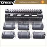 6.7Inch UTAC ALUMINUM AR-15 M4 Rifle Carbine Length Picatinny Quad Rail Handguard with 6 Rubber Covers