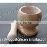 Nature stone mortar and pestle TM-001