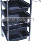 2015 classic series facial trolley spa trolley plastic beauty salon trolley for beauty salon furniture
