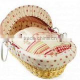 new design handmade comfortable baby wicker moses basket