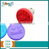 Biscuit Stamps - Non-stick Cookie Stamp Silicone Wood Stamp Handle