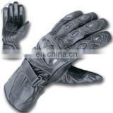 Top quality genuine cow hide leather full Motorbike protection racing gloves