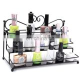 Promotion 3 Layers Floor Standing Nail polish Metal Wire Display For Shopping Store