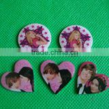 Heart shape button badge