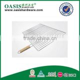 BBQ grid Non-stick coating& wooden handle bbq tool