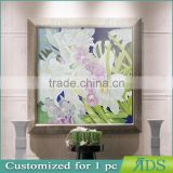Beautiful flower designs fabric painting for wall art decor