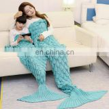Adult and children mermaid tail blanket on sale