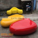 1.5M fiberglass pebbles stools hand-made art chair outdoor decoration rest furniture RUYA factory Chongqing