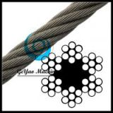 Bright Wire Rope Sand Line - Fiber Core 6x7(Linear Foot)