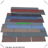 Colorful Fiberglass 3-tab asphalt shingle roof tile