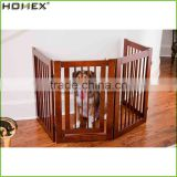 Wood Walk Through Dog Gate Extendable Pet Fence Homex_BSCI Factory