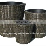 Wicker planter, Poly rattan planter