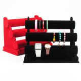 Jewelry T-Bar Bangle Watch Bracelet Display Stand Rack Jewellery Holder 3 Tiers