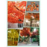 indoor&outdoor artificial maple tree,imitation red leaves maple tree for landscaping