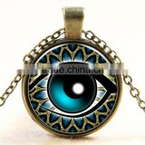 XP-TGN-HE-128 Newest Evil Eye Gemstome Colorful Time Gem Necklace With Popular Accessories