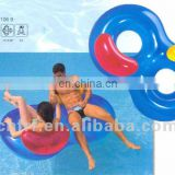 PVC double pool floating lounger with back rest