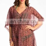 Coral Graphic Print Sarong Cover-Up