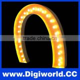 LED punching word stainless steel bulb letter
