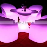 modern popular Infrared Remote control led commercial furniture table chair sets