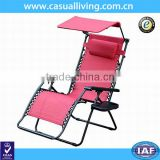 Adjustable Reclining Outdoor Lounge Zero Gravity Chair with Headrest