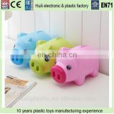 PVC coin bank money box, roto pvc plastic money saving box for kids, Qualified rotocasting plastic money box