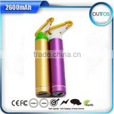 Real Capacity cylinder 2600mah smartphone power bank