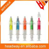 assorted colors needle shape dual tips liquid medicine highlighter