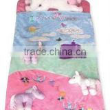 2012 cuddly horse toy sleeping bag bed for baby