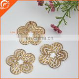 new coming fashion fake flower gold trim for wholesale