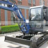small four-wheel excavator