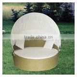 fashion rattan furniture rattan round sunbed with canopy