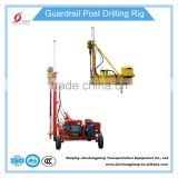 portable mini highway guardrail post drilling rig driller pavement drilling machine boring machine factory in China used on sale