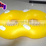 1.0mm Pure PVC material inflatable double float tube for sale