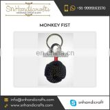 High Quality Durable Monkey Fist Nautical Rope Keychain Available at Market Price