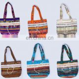 Large Colorful Beach Bags Unique Wool handbags Handmade Knitting Product Great Exotic Design Purses Novelty Gifts Ecuador