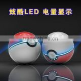 100pcs hot sell whole 12000maH trade assurance pokeball power bank with fast delivery
