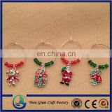 Christmas Themed Wine Glass Charms